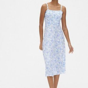 Gap Women's Print Fit And Flare Cami Midi Dress M